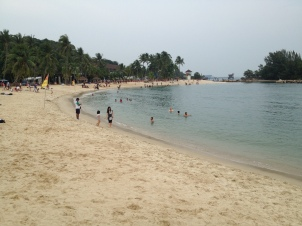 Sentosa Island - sztuczna plaża