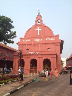 słynny czerwony kościół w Malace