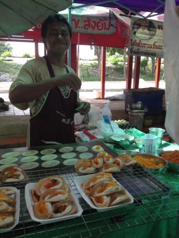 przysmaki miejskie na Taling Chan market