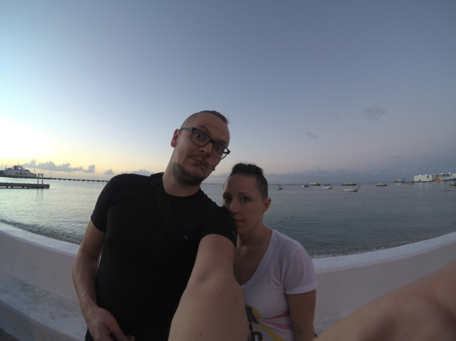 selfie at the bay, Cozumel